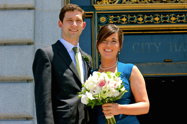 Kate and Duncan tie knot